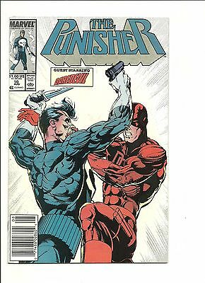 Daredevil #257 & Punisher #10 classic crossover battle 1988 both NM- 9.2