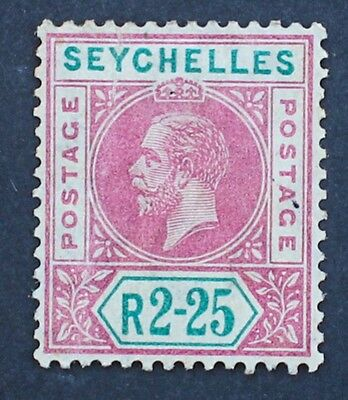 SEYCHELLES - SG81 2r25c Magenta & Green. King George V 1912-13. Mounted Mint MM.