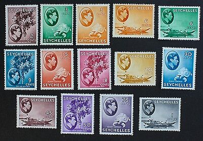 SEYCHELLES - SG135-146a part set King George VI 1938-49. 14 Mounted Mint MM.