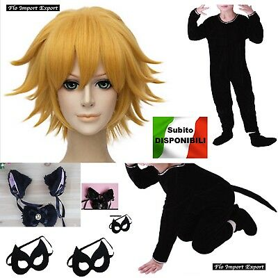 Inspired Miraculous Chat Noir Costume Carnevale Ladybug Cosplay Costume CHAN01