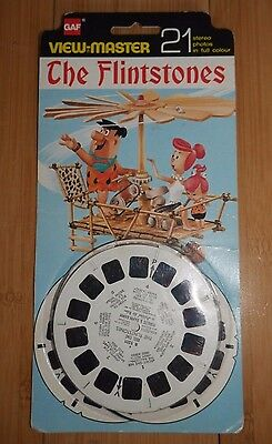 Vintage The Flintstones 1964 View Master Reels Gaf B520 Rare Carded