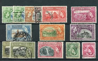 Trinidad & Tobago 1953-59 set plus 2 shades SG267/78a FU