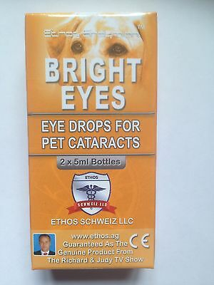 Ethos Cataract Eye Drops for dogs and animals original Bright Eyes 1 x Box=10ml