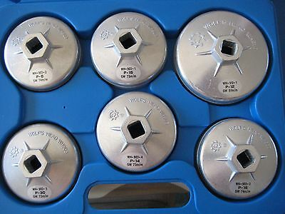 Premier Aluminium Oil Filter Wrench Set, 6 piece, Brand New