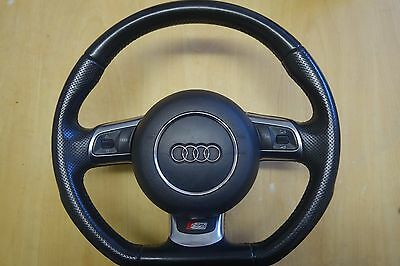 Audi S3 Flat Bottom Steering Wheel With Perforated Sides Please Look