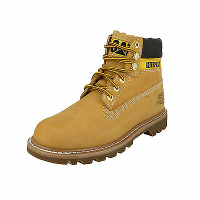 Mens Caterpillar Honey Leather Lace Up Ankle Boots - Colorado