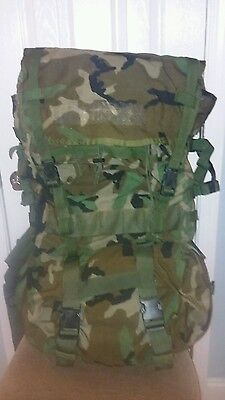 Molle Ii Woodland Camoflage Back Pack Set Military Issue