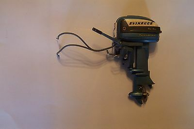 vintage Evinrude Big Twin electric starting toy boat motor made in Japan