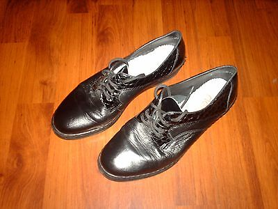 Fab Ladies Black Real Leather RIEKER Shoes (size UK 4.5)