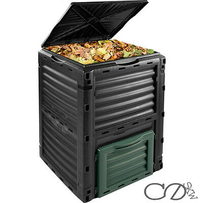 300L Composter Bin - Eco Friendly Organic Waste Compost Converter Fold Flat