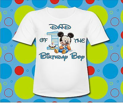 Plaid Baby Mickey Mouse Dad Of The Birthday Boy T Shirt All Sizes And Sayings
