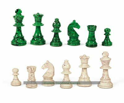 Dal Negro Lacquered Boxwood Chess Pieces - White and Green