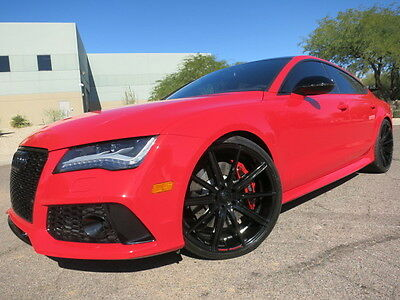 """2014 Audi RS7 RS 7 Misano Red Custom 22"""" Whls Exhaust B&O Sound Loaded Rare RS 7 2015 2016 S7"""