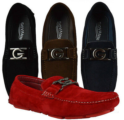 Men's Giovanni Dress Shoes Driving Moccasin Formal Loafer Wedding  New M15-509