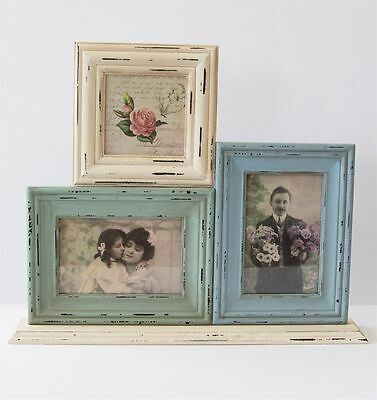 Sass and Belle Triple Standing Photo Frame - Vintage/Shabby Chic style