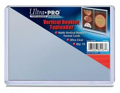 (10) Ultra Pro Vertical Booklet Toploaders & (10) FREE Card Sleeves BRAND NEW