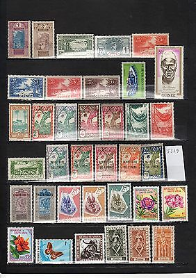 Lot Timbre Pays Expression Francaise Guinee Guyane Haute Volta Inde
