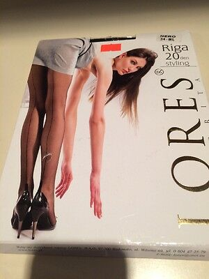 Black Seamed Tights Size Large