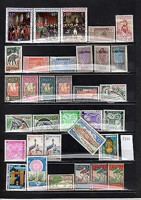 Lot Timbre Pays Expression Francaise Mauritanie Niger Nouvelle Caledonie