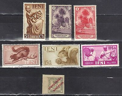 Spain- Lot Of Early Unused Stamps (7SP)