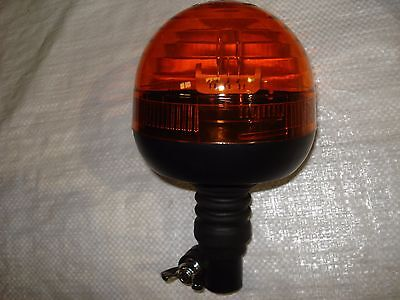 L.E.D Quick Mounting Amber Warning Beacon With Flexi Din Pole Fitting