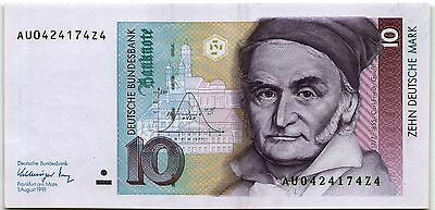 GERMANY 10 DEUTSCHE MARK 1991 (1.08.1991) *UNC* P-38b BANKNOTE - b306!