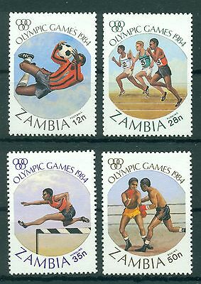 ZAMBIA *1984 * compl.set 4 stamps* MNH** Olympic Games - Mi.No 314-317