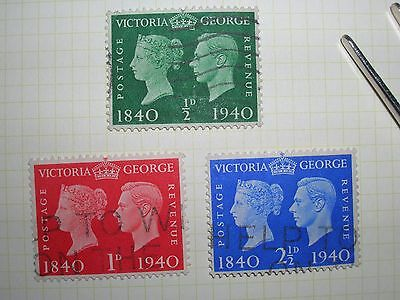 GB stamps King George VI 1940 used (off paper)
