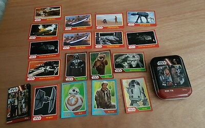 star wars the force awakens trading cards with mini tin