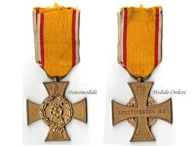 Germany Lippe Detmold WWI Cross War Merit 1914 Military Medal Leopold IV German