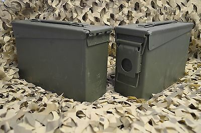** 2 PACK ** M19A1 7.62 / 308 30 Cal AMMO CAN GREAT CONDITION ** FREE SHIPPING**