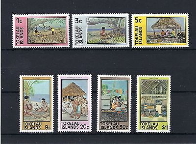 1981 Tokelau Definitive Reprints Set Of 7 Fine Mint Never Hinged Stamps.
