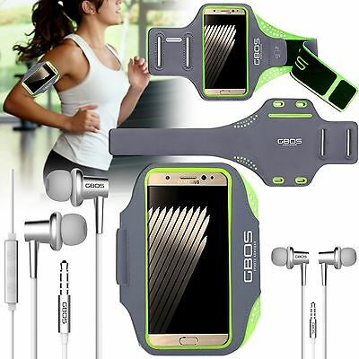 GBOS Sports Gym Exercise Armband Case For Samsung Galaxy All Models & Earphone