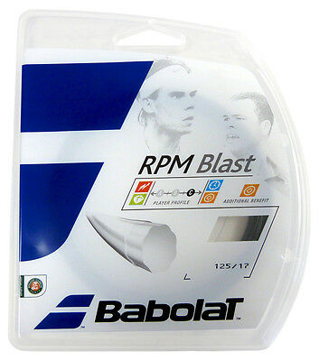 Babolat Rpm Blast Tennis String - 1.25Mm - 12M Full Set - Clearance Price