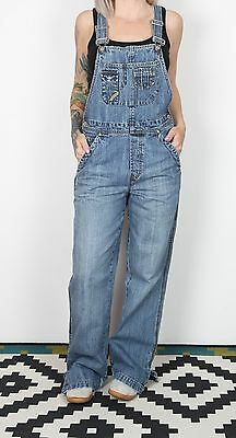 Dungarees UK 10-12 S M   Fitted Oversized 8-10 XS Denim Mid Blue  (83H)