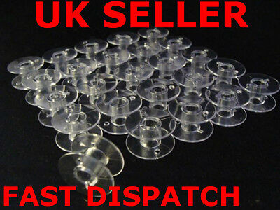 Universal Clear Plastic Sewing Bobbin Spools 20X11Mm Fits All Well Known Brands