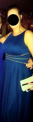 Size 16 Navy Ball Gown/Prom Dress