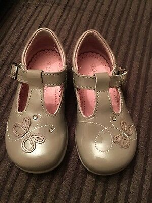 Baby Girls Startrite Shoes - Grey With Butterfly And Diamanté Detail