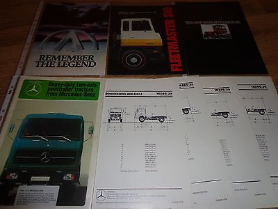 COLLECTION OF TRUCK BROCHURES x 4