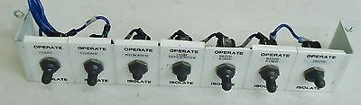 7 Section Operate/Isolate Switch Panel