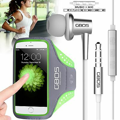 GBOS Sports Gym Running Jogging Exercise Armband Case Apple iPhone  & Earphone