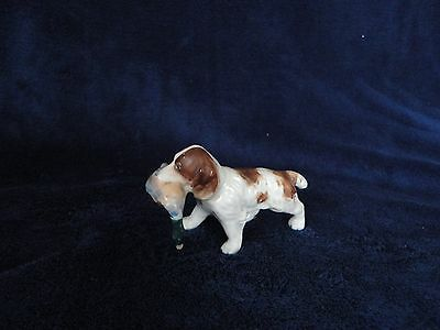 Vintage Porcelain Setter Spaniel Hunting Dog Figurine with Duck in Mouth -Japan