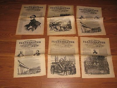Lot of 6 ---THE REISSUE OF--FRANK LESLIE'S ILLUSTRATED NEWSPAPER