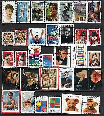 USA - 33 USED Stamps Issued August 2002 - June 2003