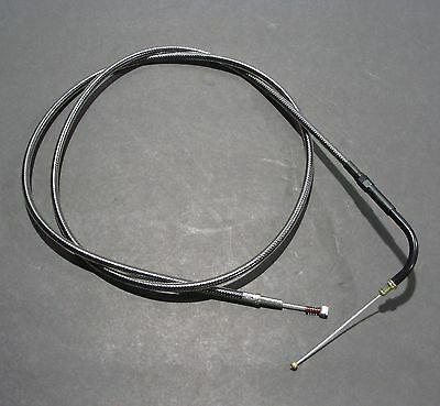 """Magnum Black Pearl Braided 47.5"""" Idle Cable 1996-up Harley Big Twins"""