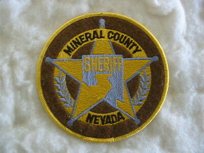 MINERAL COUNTY SHERIFF, POLICE, NEVADA, UNITED STATES. Rare Old Style Patch