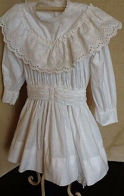 Vintage French Child's Dress With Amazing Neckline And Bodice Detail
