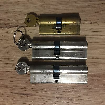 Euro Double Cylinder lock assorted Job lot X3 Practice Picking/ Possible Refurb