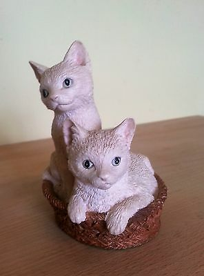 Beswick 'I Spy', Two White Kittens in a Basket. From the Young Friends Series.