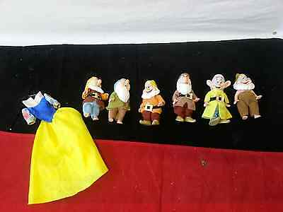 Rare Collectable Simba Disney Snow White Doll 7 Dwarfs Figures (only 6 dwarfs)